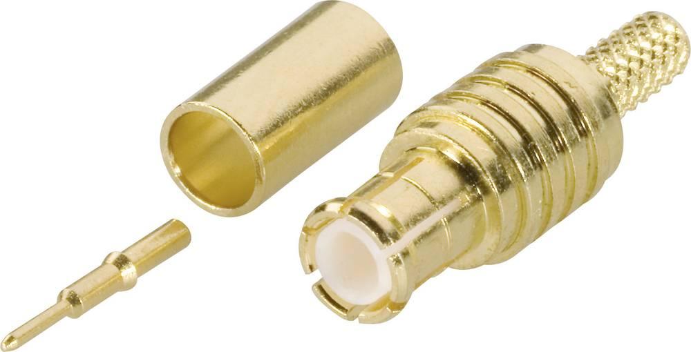 MCX moški konektor Amphenol MCX1121A1-3GT30G-5-50, raven, ponikljana medenina, stiskanje