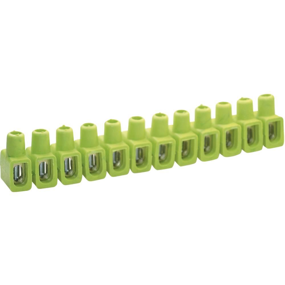 Priključna sponka Kaiser, prečni prerez: 4-10 mm2, 16 A, zeleno-rumena 610/gegr