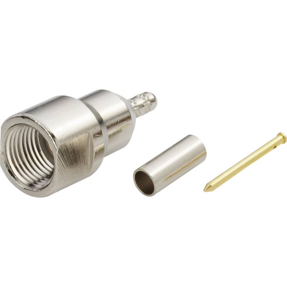 FME moški konektor za stiskanje Amphenol FME1121B4-ND3G-5-50, raven, ponikljana medenina