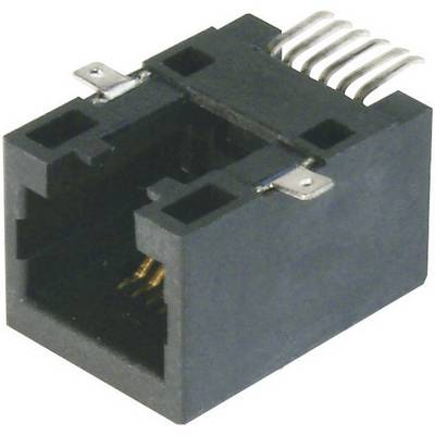Image of ASSMANN WSW A-20040-LP/SMT-A Modular Panel Bush - SMD 4 RJ10 Socket, straight