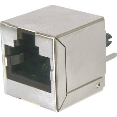 Image of ASSMANN WSW AMJ-188-10101-CAT6 Modular Socket, RJ45, CAT 6 8 RJ45 Socket, vertical vertical Silver