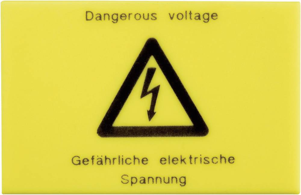 Advarselsskilt Phoenix Contact 2720032 WS-G5/3 Gul 1 stk