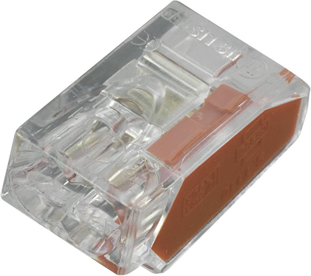 Priključna sponka, prečni prerez: 0,25-2,5 mm2, 24 A, prozorna, komplet