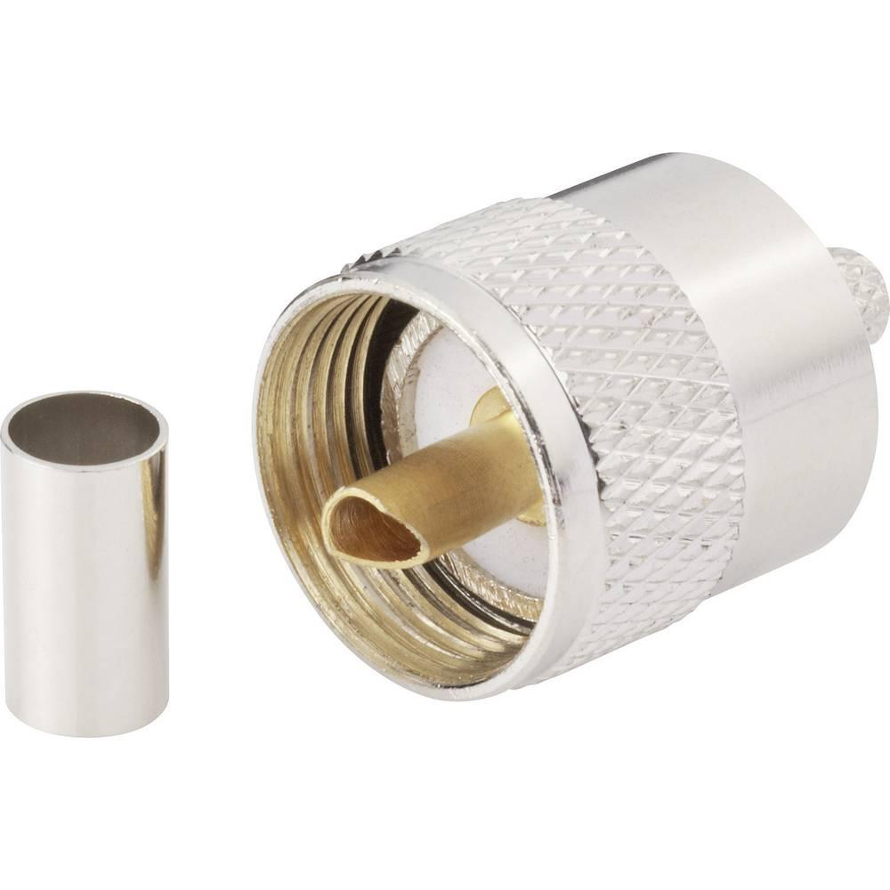 UHF-stikforbindelse BKL Electronic 0406074 50 Ohm Stik, lige 1 stk