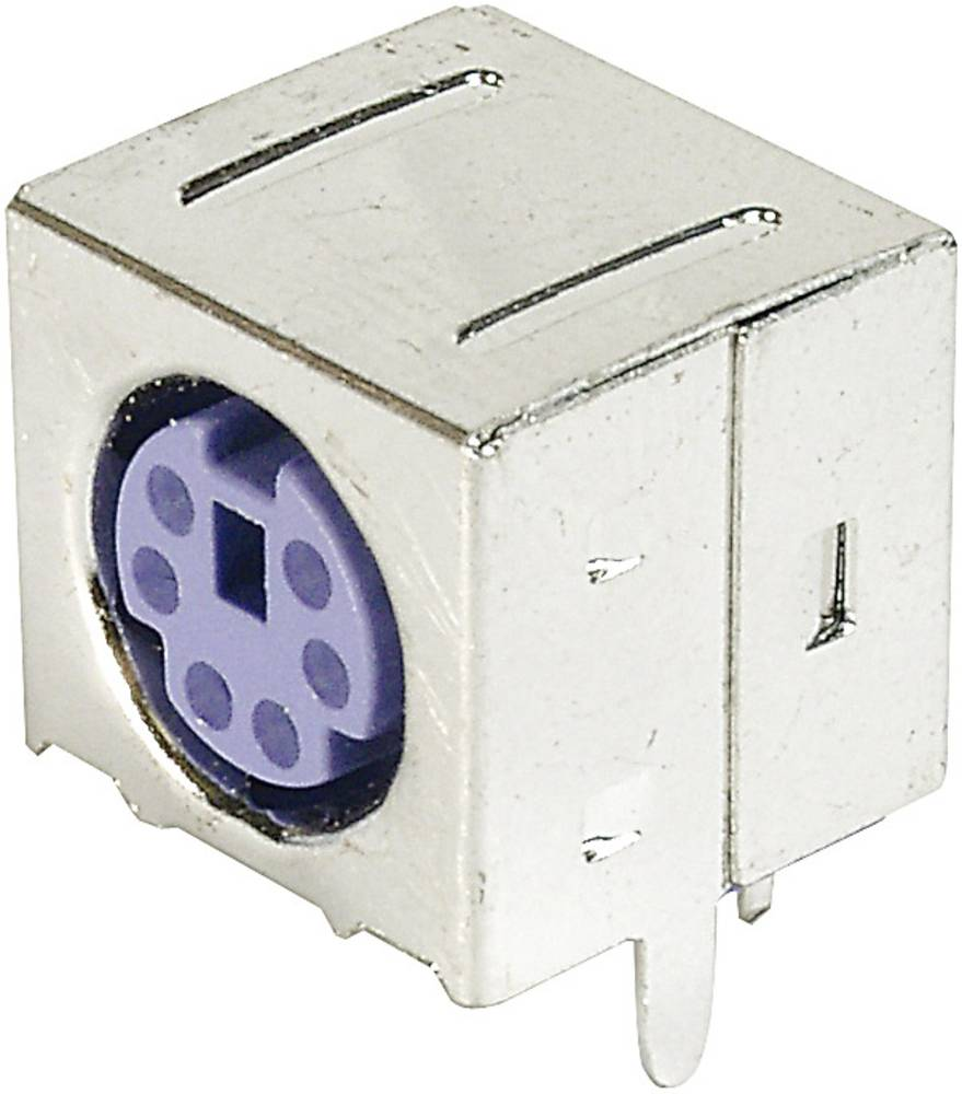 Mini-DIN-indbygningsbøsning, skærmet ASSMANN WSW A-DIO-FS06/PURPLE Poltal: 6 1 stk
