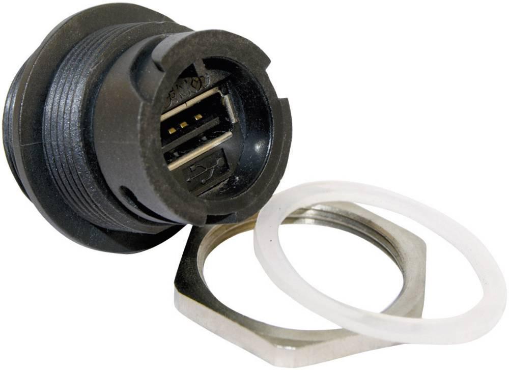 USB 2.0 vgradno ohišje,-komplet vtičnica, vgradno 17-200161 bajonetni zaklep brez zaščitnega pokrova Conec vsebuje: 1 kos