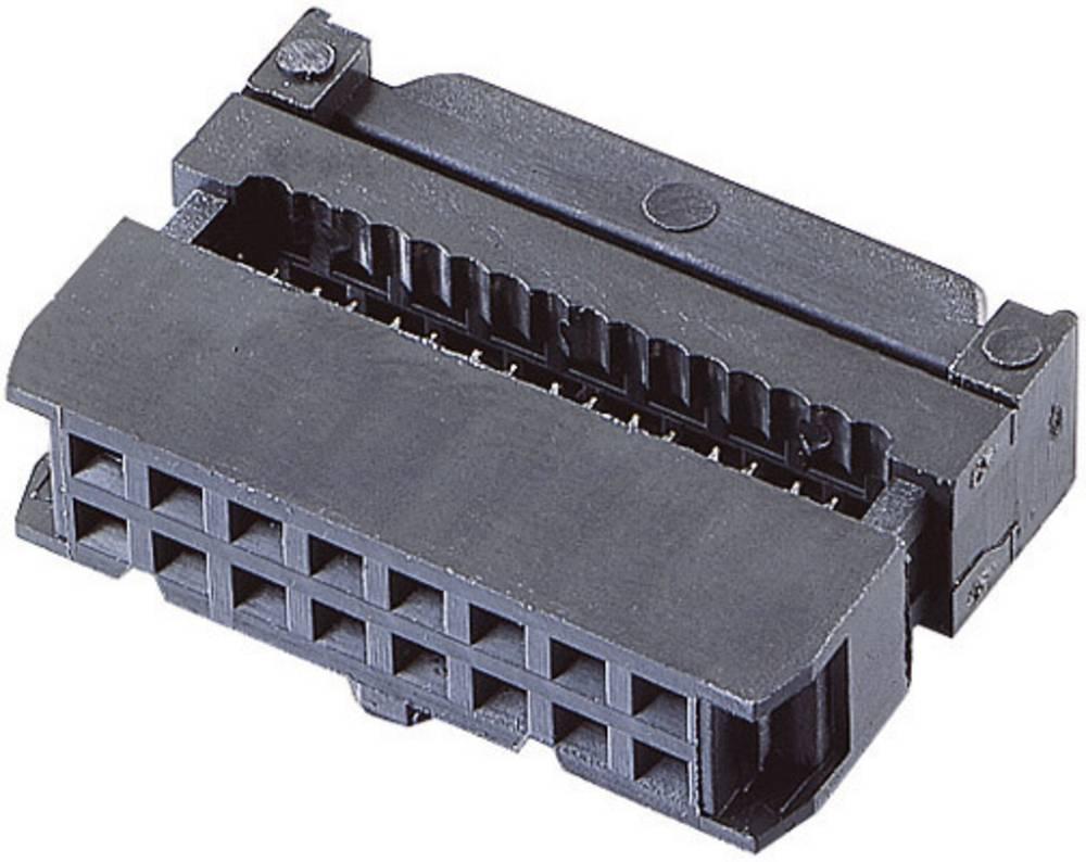 Pole-stikforbindelse med trækaflastning Rastermål: 2.54 mm Samlet antal poler: 6 BKL Electronic 1 stk