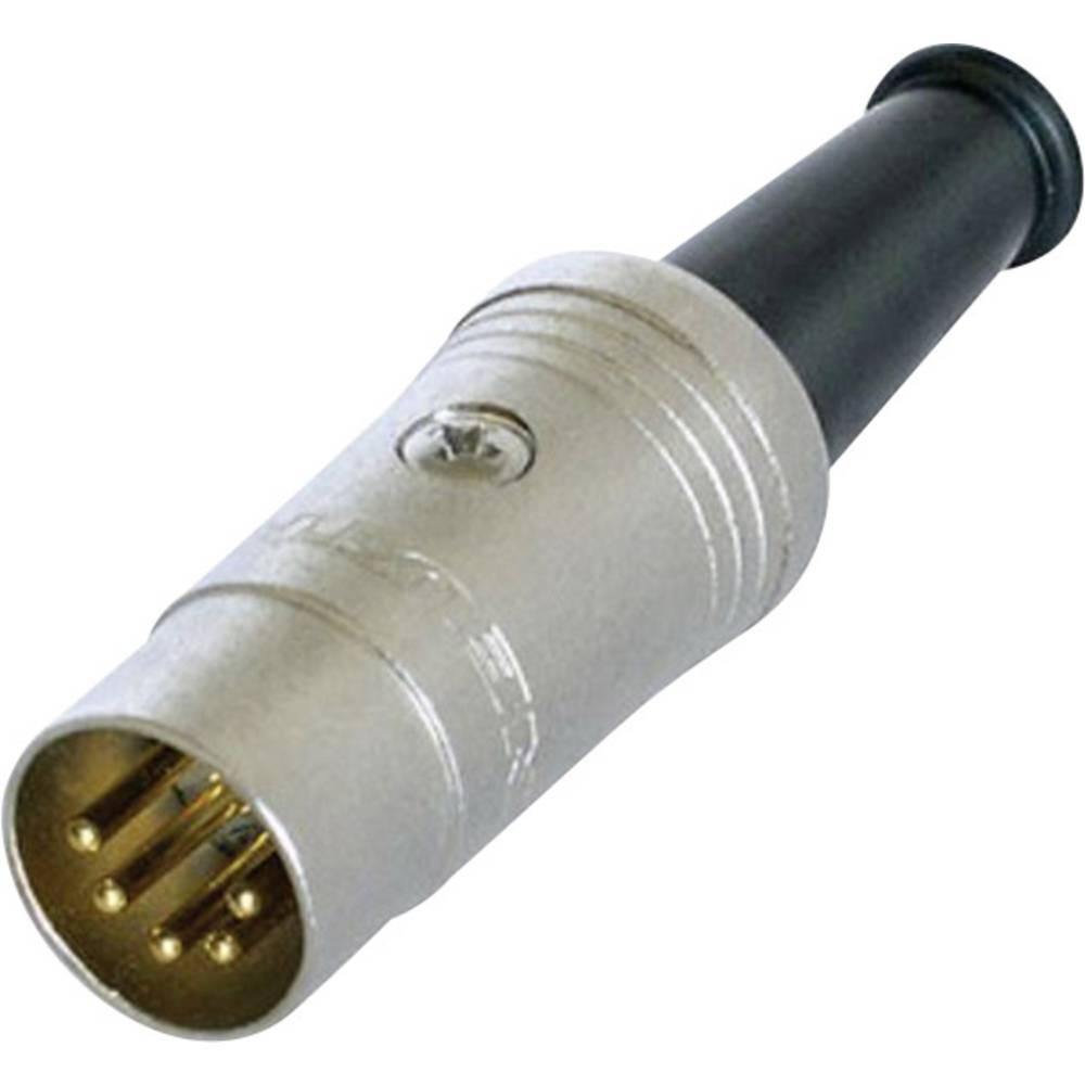 DIN- okrogli konektor-vtič, raven št.polov: 5 črn Rean NYS322G 1 kos