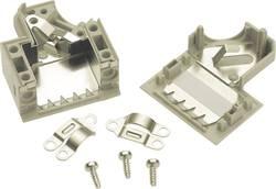 D-SUB-kabinet Harting 09 67 050 0573 Poltal 50 45 ° Plastic, metalliseret Grå 1 stk