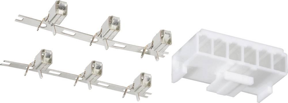 Pc-strømforsyningsstik Poltal: 6 1 stk