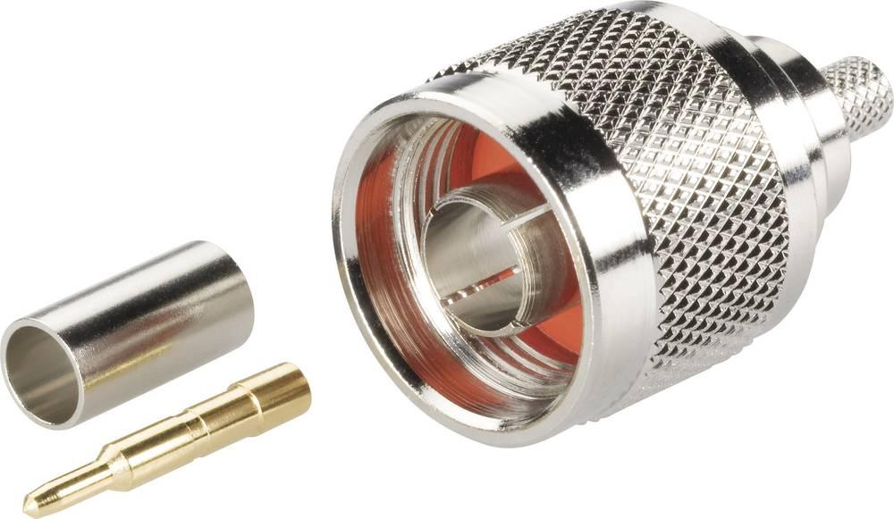 N-stikforbindelse BKL Electronic 0404000 50 Ohm Stik, lige 1 stk