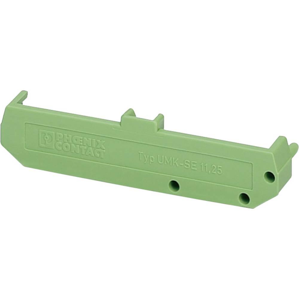DIN-skinnekabinet sidedel Phoenix Contact UMK- SE 11,25 77 x 11.5 Polyamid Grøn 1 stk
