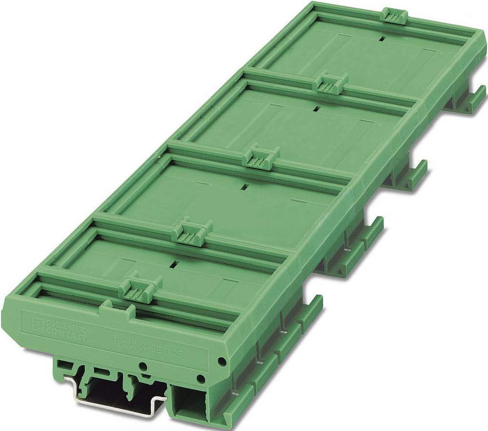 Kućište za DIN-letvu 77 x 22.5 poliamid, zelene boje Phoenix Contact UMK- BE 22,5 1 kom.