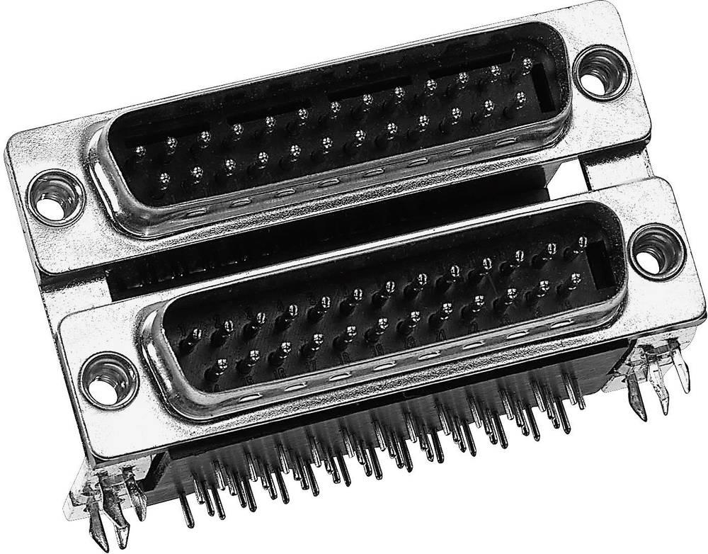Dvonivojski D-SUB konektor Provertha DP09S09SR4B, poli: 9, kotni ženski konektor, 1 kos