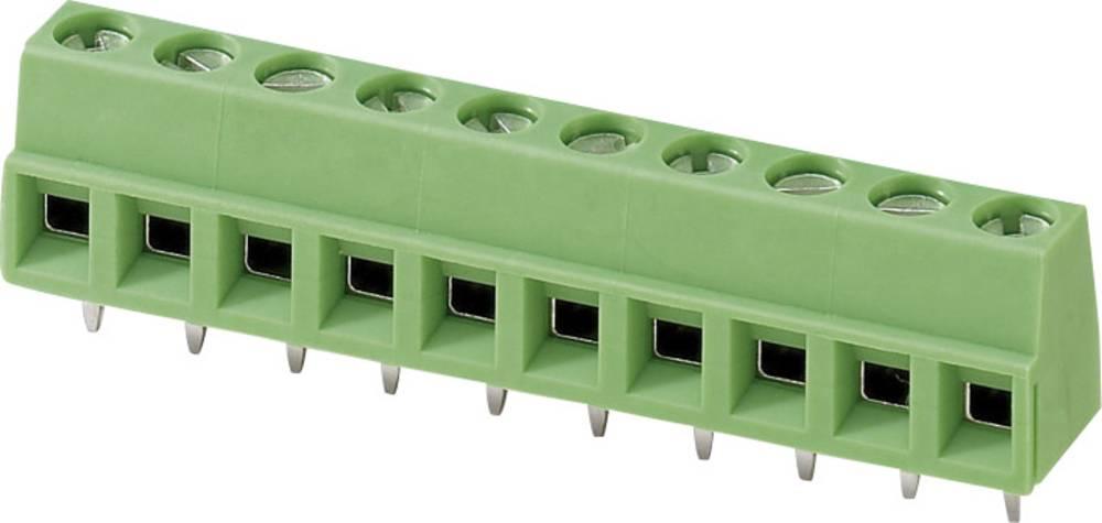 Skrueklemmeblok Phoenix Contact MKDSN 1,5/ 9-5,08 1.50 mm² Poltal 9 Grøn 1 stk