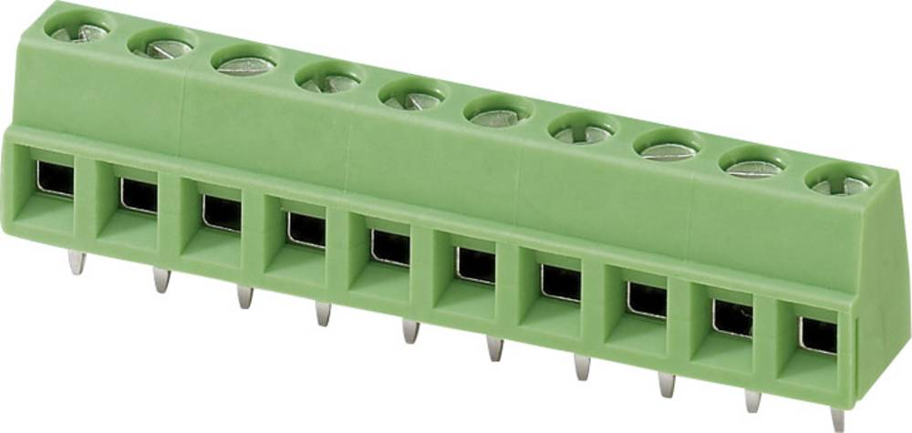 Skrueklemmeblok Phoenix Contact MKDSN 1,5/ 4 1.50 mm² Poltal 4 Grøn 1 stk