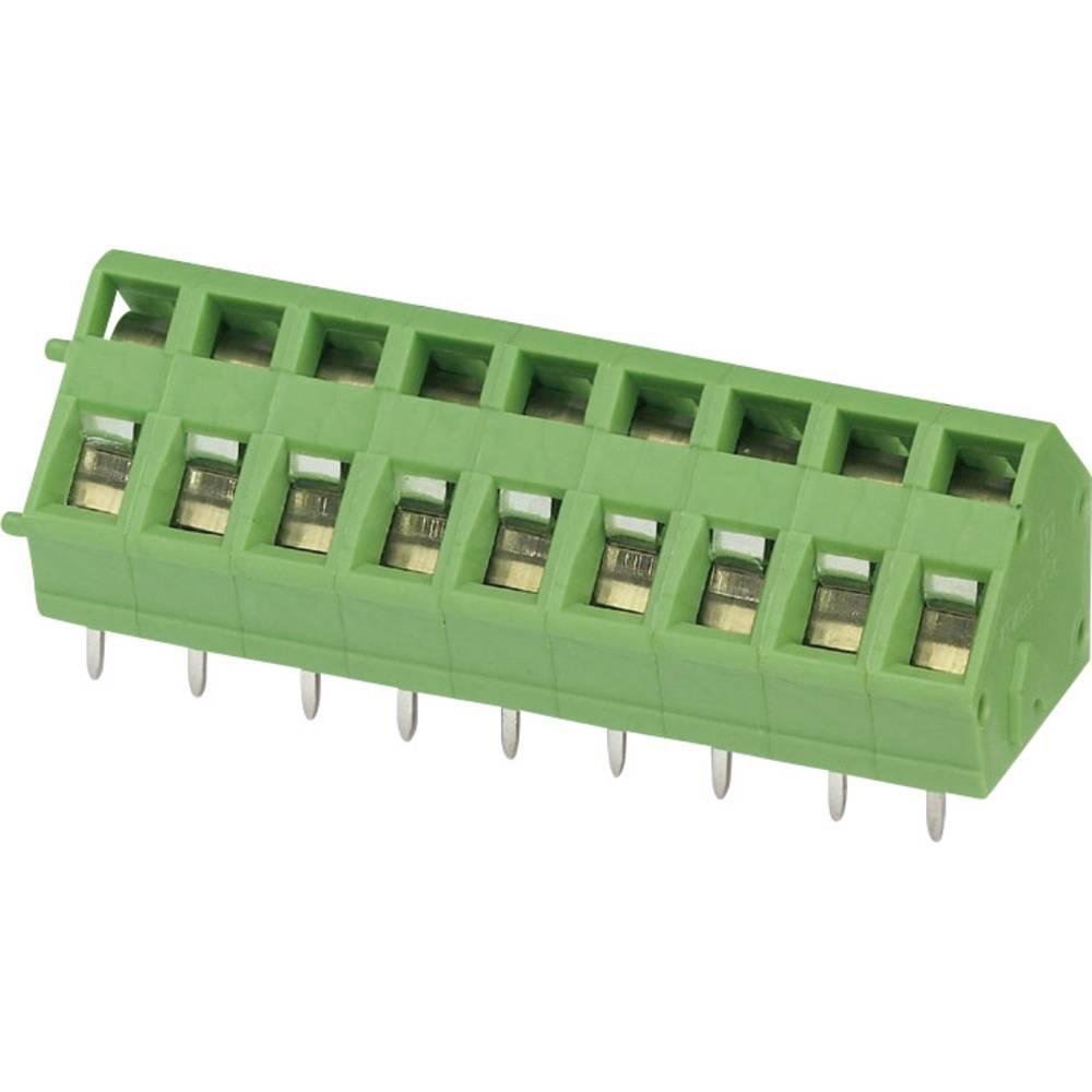 Fjederkraftsklemmeblok Phoenix Contact ZFKDSA 2,5-6,08 R 2.50 mm² Poltal 1 Grøn 1 stk