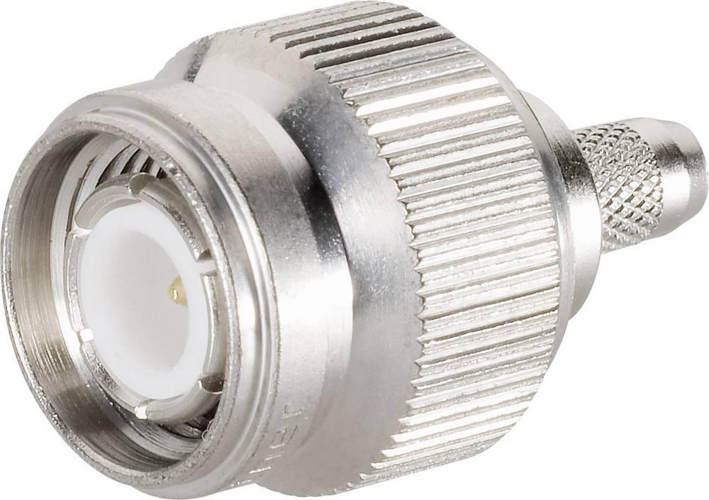 TNC moški konektor za kabel Telegärtner J01012A2288, 75 ohmov, raven, meden., za stiskanje