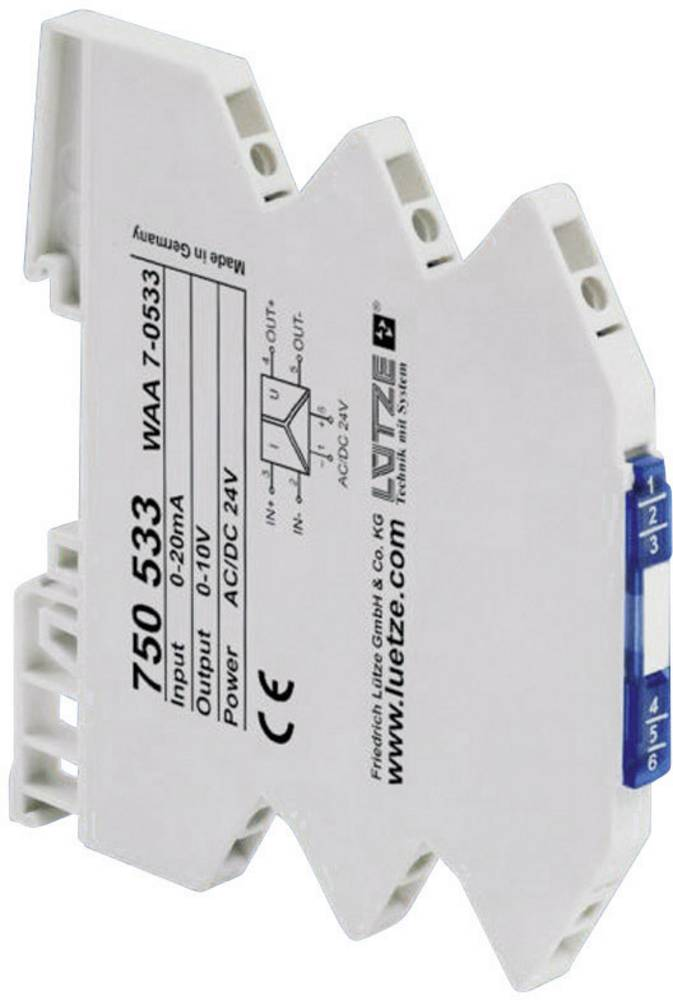 3-smerni pretvornik normiranega signala Lütze WAA 7-0534, šta signala Lütze WAA 7-0534, št 750534