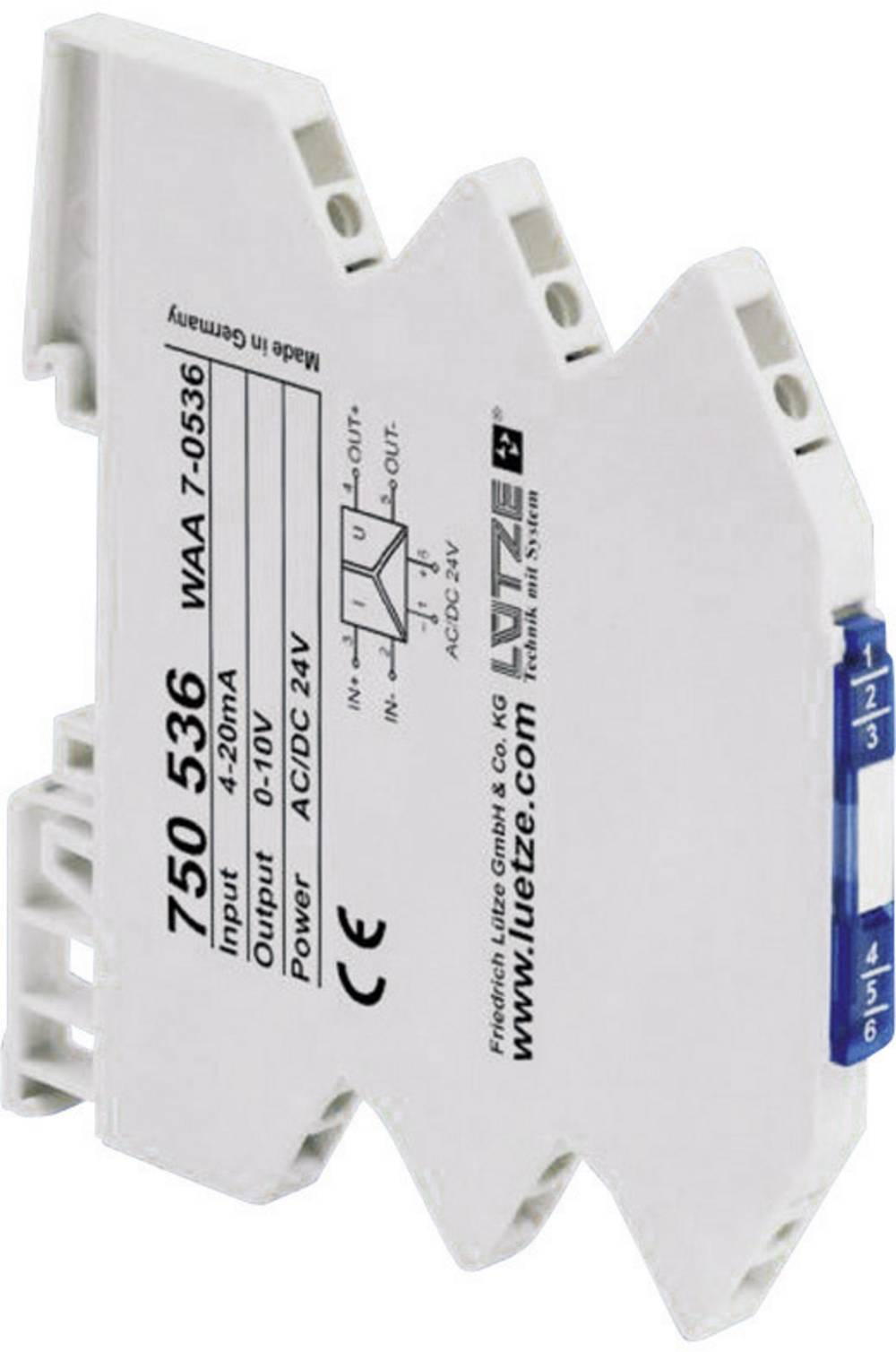 3-smjerni pretvarač normiranogsignala Ltze WAA 7-0536 750536 Lütze