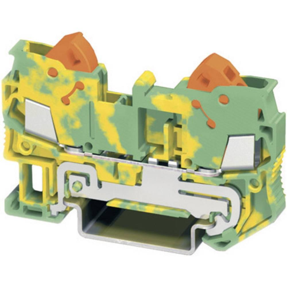 PE beskyttelsesleder terminal Phoenix Contact QTC 2,5-PE Grøn-gul 1 stk