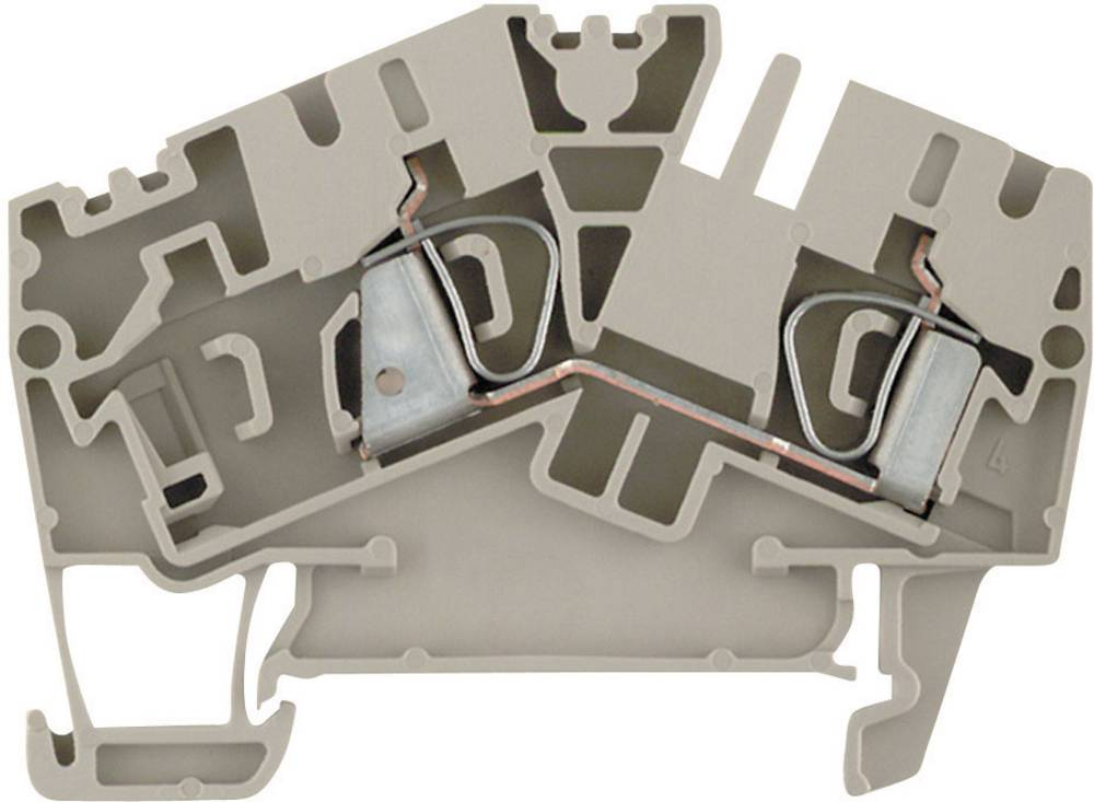 Feed-through terminaler ZDU ...- 2 beige Weidmüller ZDU 4-2/2AN 1770370000 Beige 1 stk