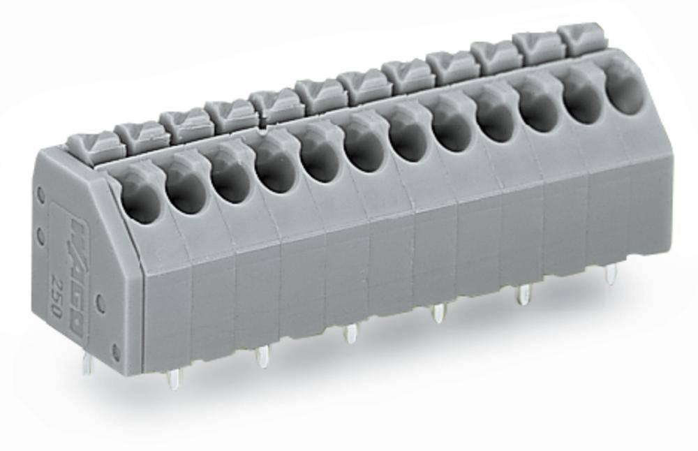 Fjederkraftsklemmeblok WAGO 1.50 mm² Poltal 8 Blå 160 stk