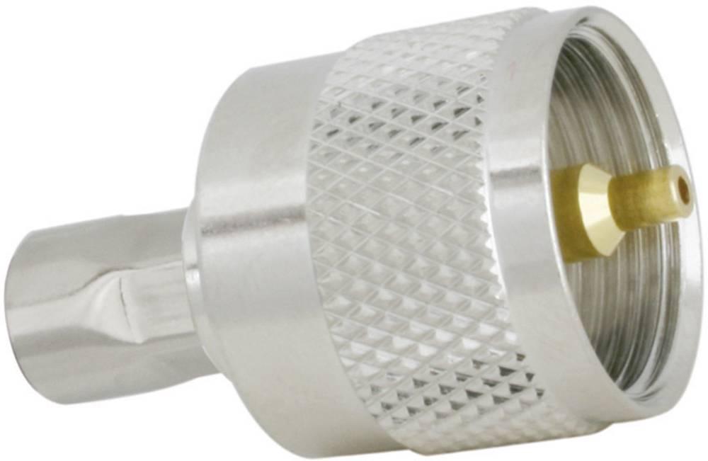 UHF vtič za vtični konektor SSB Aircell 5, raven, ponikljana medenina, za stiskanje, vsebina: 1 kos 7762