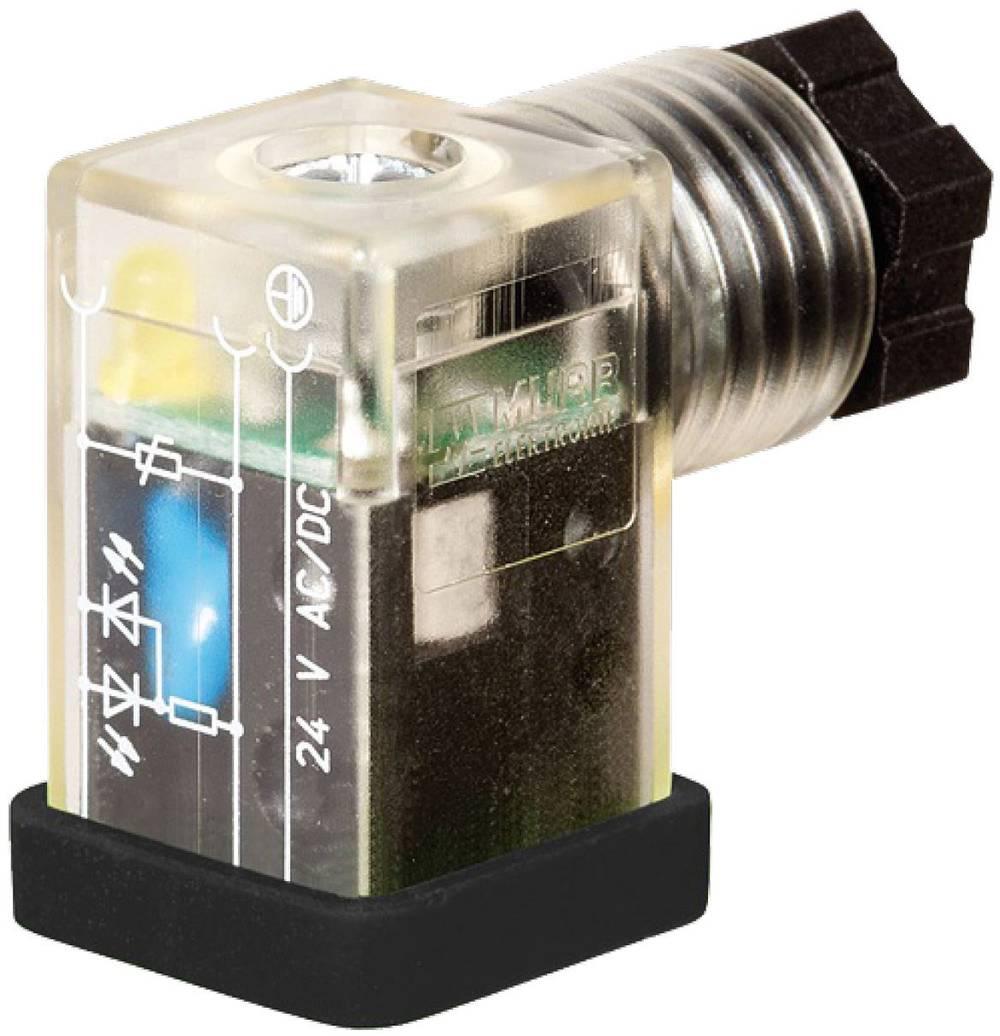 Valve stik SVS Eco LED Murr Elektronik SVS Eco Sort, Transparent 1 stk