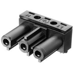 Strømstik Serie (netstik) AC Tilslutning, vinklet Samlet poltal: 2 + PE 16 A Sort Adels-Contact AC 166 GBULH/ 3 1 stk