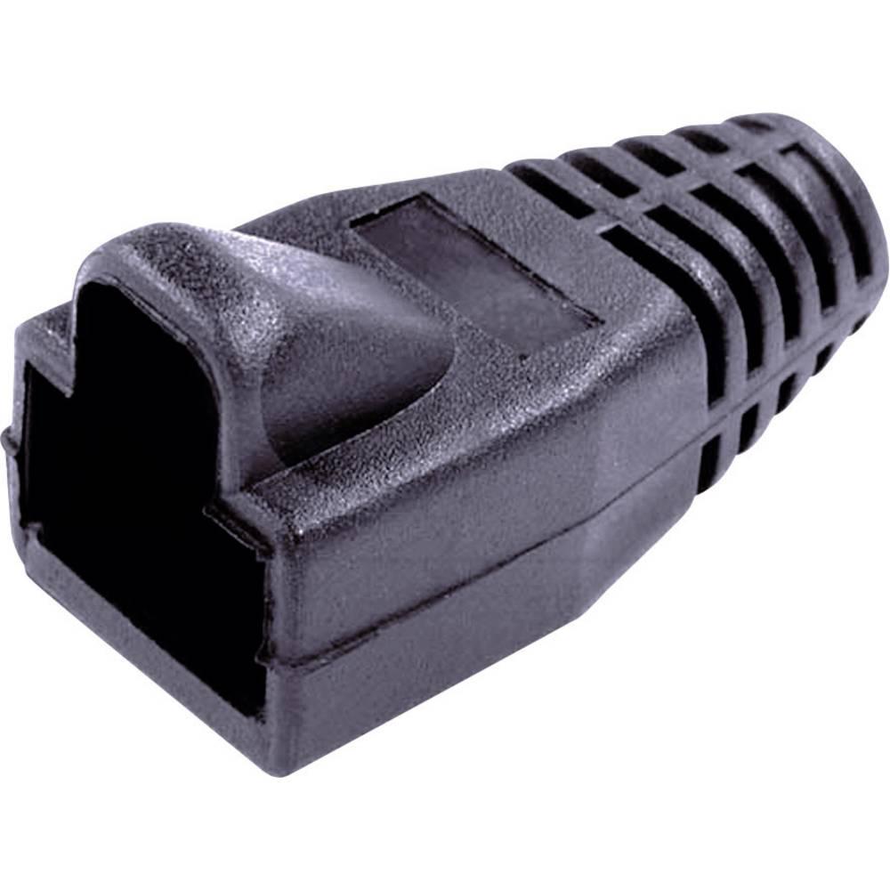 Ustnik za zaščito pred ukrivljanjem z zapahno ročico 450-011 črne barve BEL Stewart Connectors 450-011 1 kos