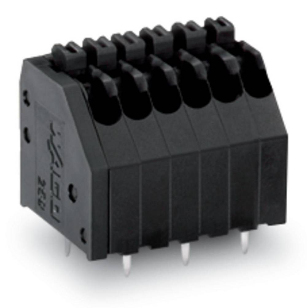 Fjederkraftsklemmeblok WAGO 0.50 mm² Poltal 8 Sort 220 stk
