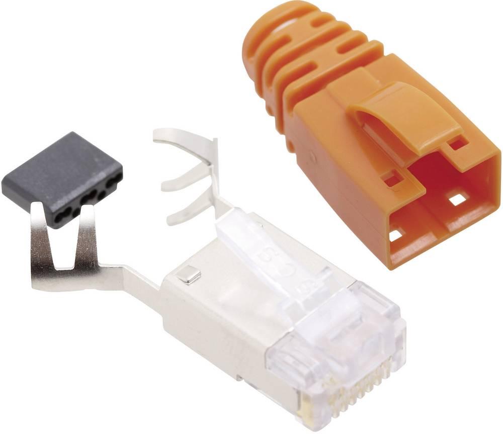 RJ45 vtični konektor, CAT 6 vtič, raven, polov:8P8C SS39ORE oranžne barve BEL Stewart Connectors SS39ORE 1 kos