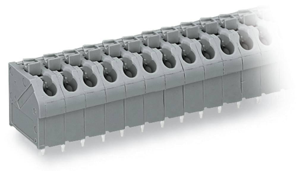 Fjederkraftsklemmeblok WAGO 1.00 mm² Poltal 4 Blå 220 stk