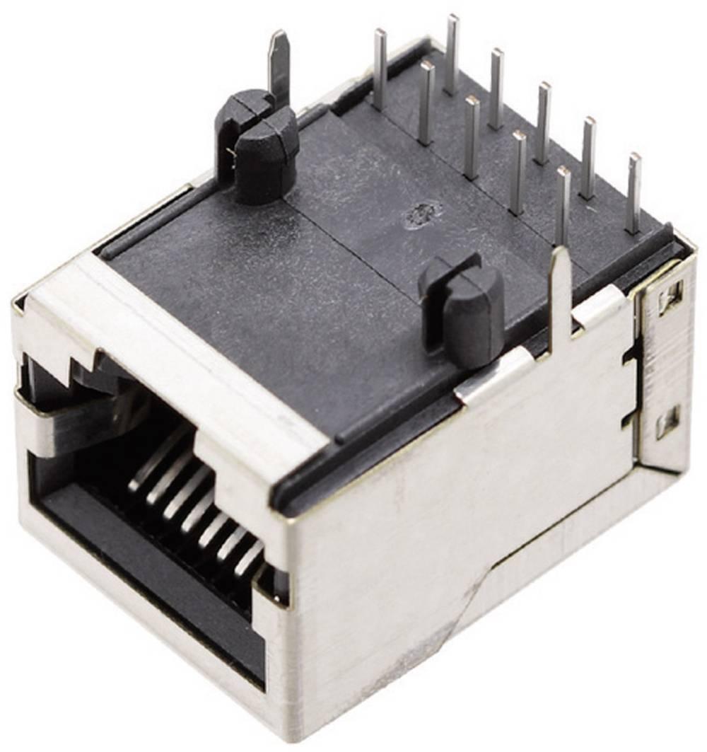 Modularna vgradna vtičnica brez zaščite vtičnica, kotna, polov: 10P10C 1409-3000-04 ponikljan, kovinska BEL Stewart Connectors 1