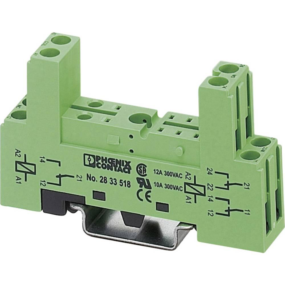 Relæsokkel 1 stk Phoenix Contact PR1-BSC2/2X21 Passer til serie: Siemens Bauform S3 (value.1428748) Phoenix Contact série PR1-BS