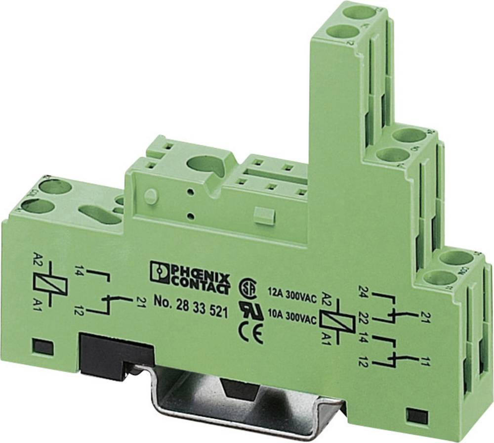 Relæsokkel 1 stk Phoenix Contact PR1-BSC3/2X21 Passer til serie: Siemens Bauform S3 (value.1428748) Phoenix Contact série PR1-BS