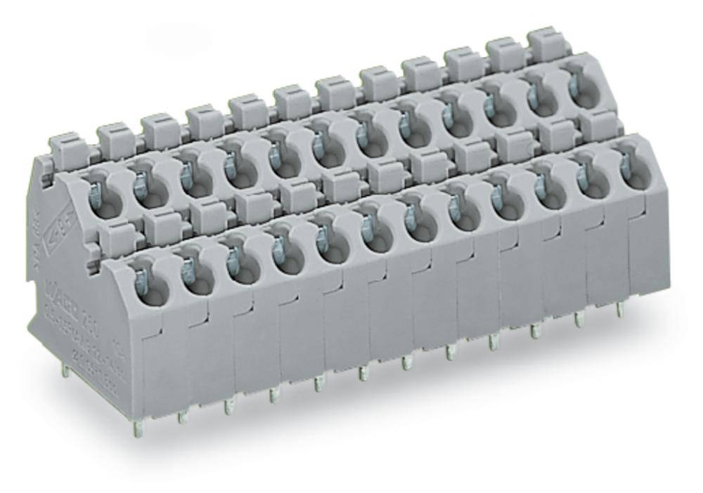 Dobbeltrækkeklemme WAGO 1.00 mm² Poltal 10 108 stk