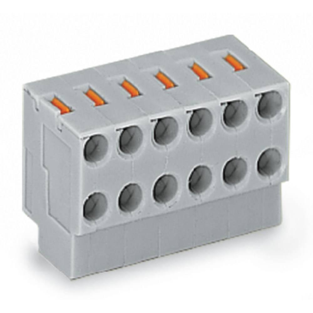 Ohišje vtičnice - kabel 252 št. polov skupaj 4 WAGO 252-154 mere: 3.50 mm 300 kosov
