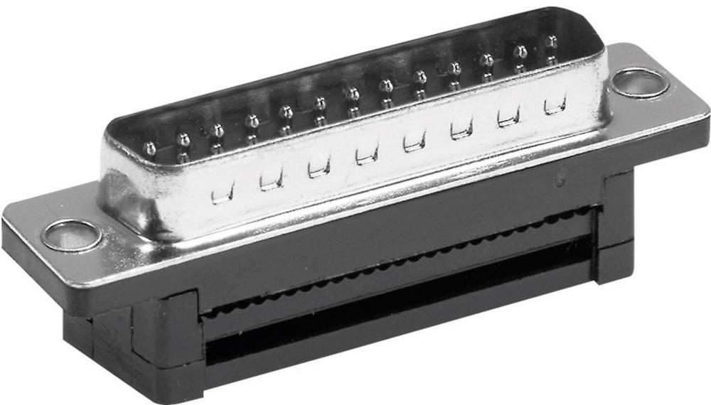 D-SUB za ploščati kabel, št. polov: 25, raven vtič, rezalnovpenjanje, ISDT25154G3, Prover Provertha