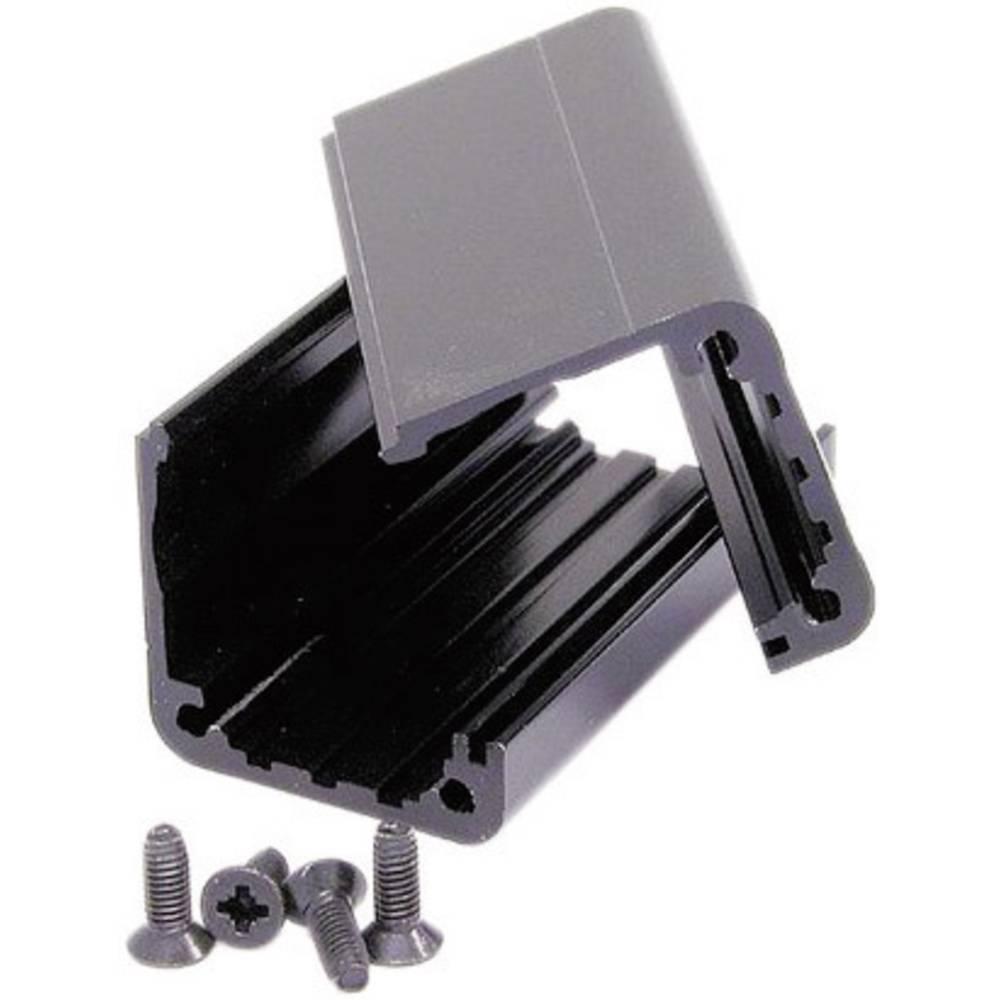 Universalkabinet 65 x 31 x 26 Aluminium Sort Neutrik NA-HOUSING 1 stk