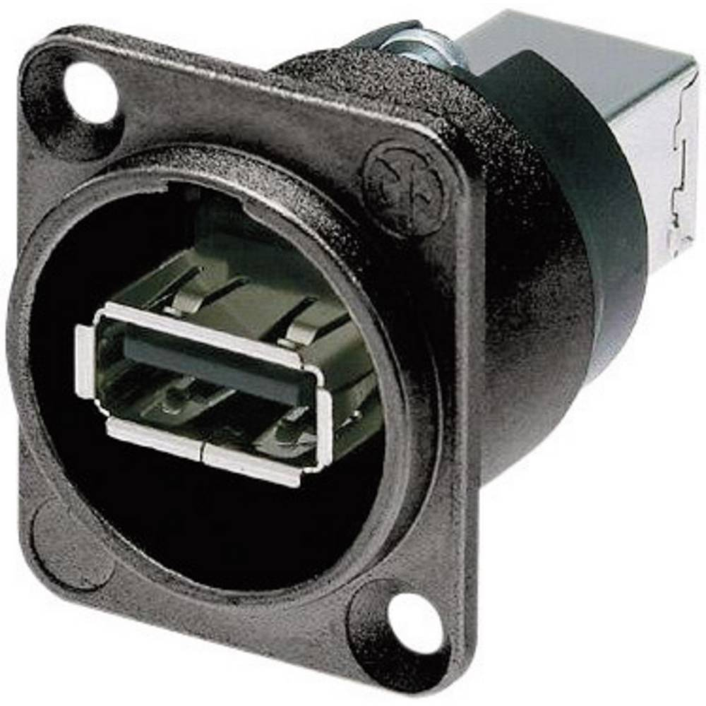 Reverzibilna speljava USB 2.0NizklopB-W-B črna, Neutrik NAUSB-W-B