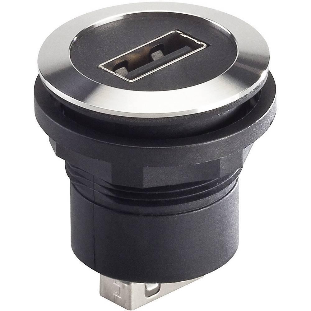 USB vgradna vtičnica 2.0 RRJVA_USB_AA, kovinska, Schlegel