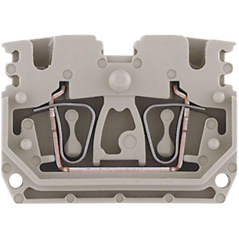 Mini - DIN-skinne rækkeklemmer ZDUB Weidmüller ZDUB 2.5-2/2AN/DB 1704500000 Beige 1 stk