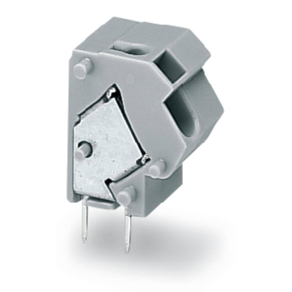 Fjederkraftsklemmeblok WAGO 1.50 mm² Poltal 1 Lysegrå 300 stk