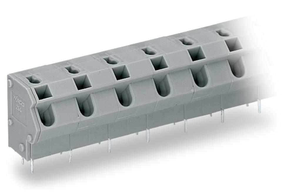 Fjederkraftsklemmeblok WAGO 1.50 mm² Poltal 16 Grå 20 stk