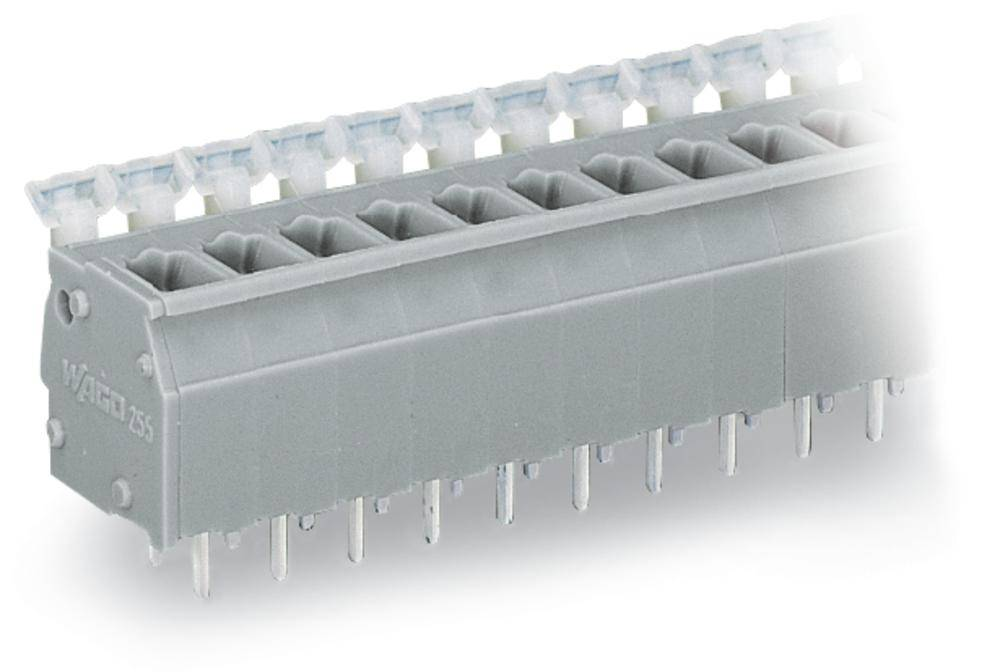 Fjederkraftsklemmeblok WAGO 2.50 mm² Poltal 12 Grå 60 stk