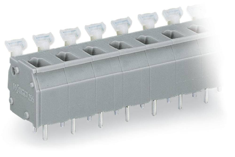 Fjederkraftsklemmeblok WAGO 2.50 mm² Poltal 10 Lysegrå 60 stk