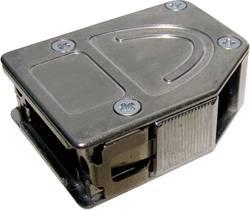 D-SUB-kabinet Provertha 10415DC001 Poltal 15 180 °, 45 °, 45 ° Metal Sølv 1 stk