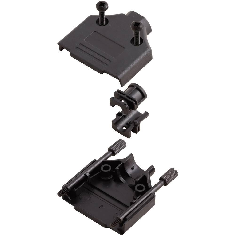 D-SUB Plastični pokrov, št. polov: 15 MHDTPPK-15-BK-K Encitech 6560-0108-02 MH Connectors